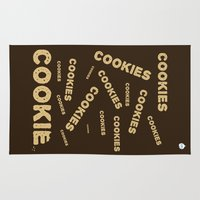 cookies Area & Throw Rugs featuring COOKIES! by Lindsay Spillsbury