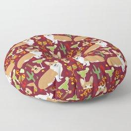 Corgi Margarita Party Floor Pillow