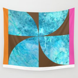 circa 1966: blue marble & chestnut Wall Tapestry