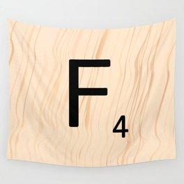 Letter F - Scrabble Art Wall Tapestry