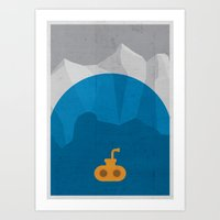 yellow submarine Art Prints featuring Yellow Submarine by Shkvarok