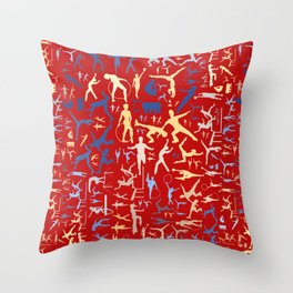Sport related symbols background Throw Pillow