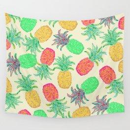 Pineapple Pandemonium (multi) Wall Tapestry