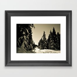 Snow Day Cypress Mountain BC Canada Framed Art Print