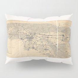 Vintage 1915 Los Angeles Area Map Pillow Sham