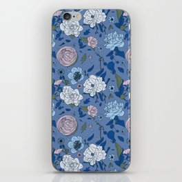 Lovely Seamless Floral Pattern With Subtle Poodles (Hand Drawn) iPhone Skin