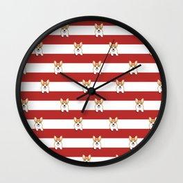 Corgi Stripes Corgi Dog design Cute Corgi Pet Gifts Wall Clock