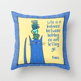life is a balance ... Throw Pillow