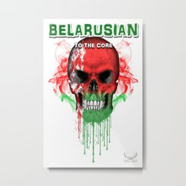 To The Core Collection: Belarus Metal Print