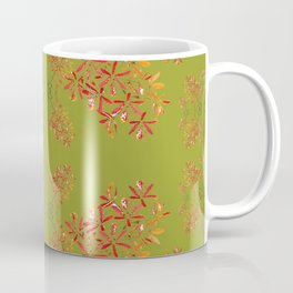 Orchids on Olive Green Coffee Mug