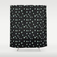 weird Shower Curtains featuring Weird Dots by Ghostly Ferns