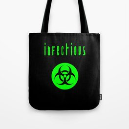 biohazard infectious Tote Bag