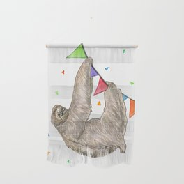 Sloth with Bunting #2 Wall Hanging