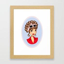 Polka Dots Pin-up Framed Art Print