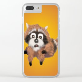 Raccoon Series: Running Scared Clear iPhone Case