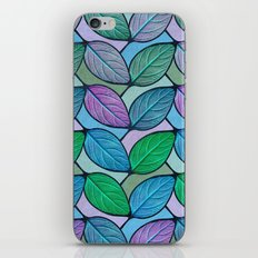 Leaf Chevron Pattern iPhone Skin