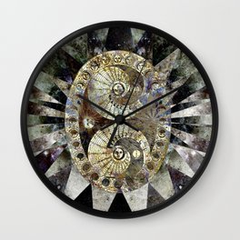 Space Odyssey - Lunar Phases II Wall Clock