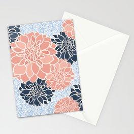 Asymmetric dahlia pattern-work Stationery Cards