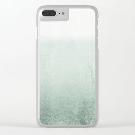 FADING GREEN EUCALYPTUS Clear iPhone Case