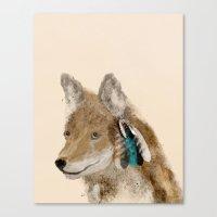 coyote Canvas Prints featuring Coyote by bri.buckley