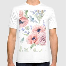 Fall Country Flowers Mens Fitted Tee White X-LARGE