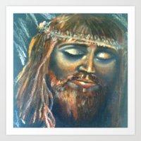 christ Art Prints featuring Christ by osile ignacio