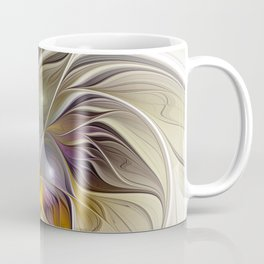Abstract Fantasy Flower Fractal Art Coffee Mug