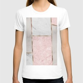 Pink stones - rose gold adorns T-shirt