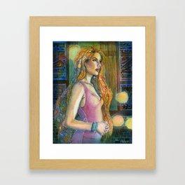 In the Blue Night Framed Art Print