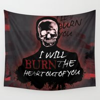 moriarty Wall Tapestries featuring Burn The Heart Out Of You by KitsuneDesigns