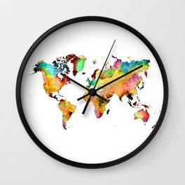 world map 71 Wall Clock