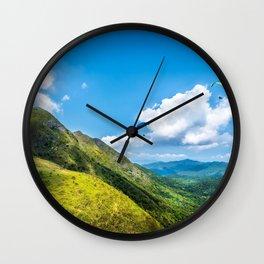 Hong Kong Mountainscape Wall Clock