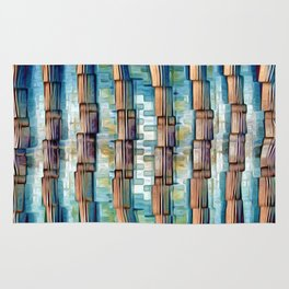 Abstract Architectural Pillars Rug