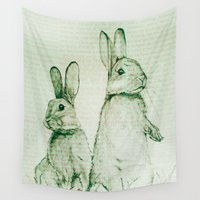 bunnies Wall Tapestries featuring Bunnies by ajtaylor
