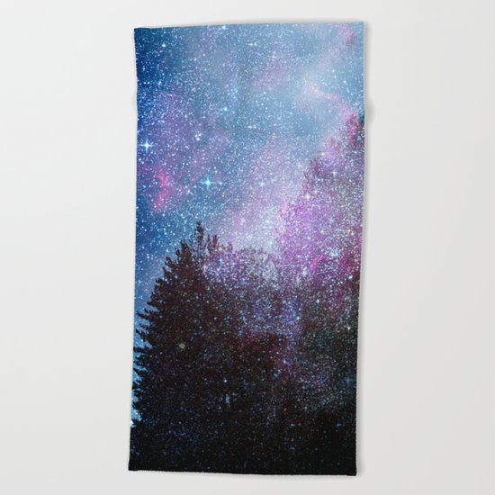 Stars forest..... Cosmic. Beach Towel