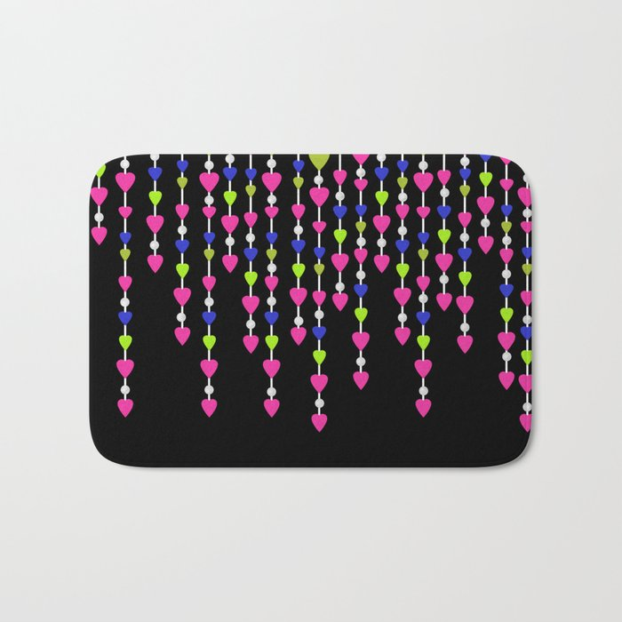 Pearl beads and hearts .2 Bath Mat
