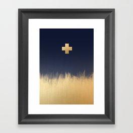 Gold Cross Framed Art Print