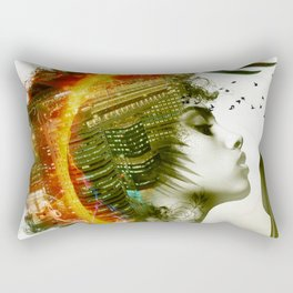 Afro Warrior Rectangular Pillow