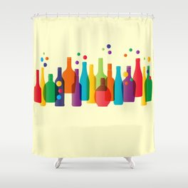 Colored bottles Shower Curtain