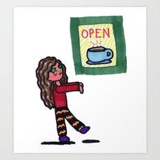 Coffee Zombie Art Print