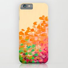 CREATION IN COLOR Autumn Infusion - Colorful Abstract Acrylic Painting Fall Splash Ombre Ocean Waves iPhone 6s Slim Case