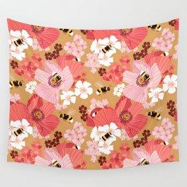 Bumblebees Pollinators Wall Tapestry