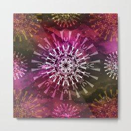 Geometric Spirit Mandala Metal Print