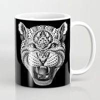 leopard Mugs featuring Leopard by BIOWORKZ