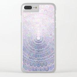 Pale Flower Mandala Clear iPhone Case