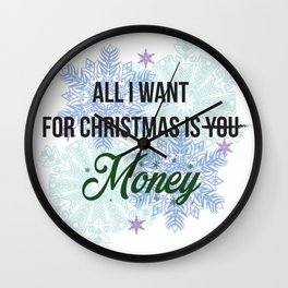 all i want for x-mas is... Wall Clock