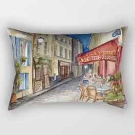 Postcards from Paris - Montmartre by Night: Le Tire-Bouchon Creperie Rectangular Pillow