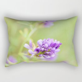 Purple Wildflower  Rectangular Pillow