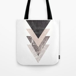 Geometric Shapes. Marble Triangles. Tote Bag