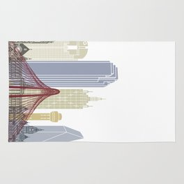 Dallas skyline poster Rug